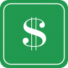 CCCD Financial Icon, stack of money